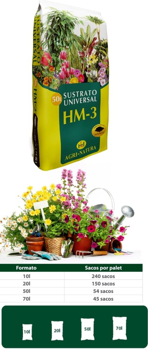 Hm3 sustrato universal sustratos profesionals for Mantillo o sustrato